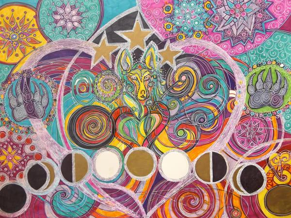 Lunar Wolf Art   Cynthia Christensen Art