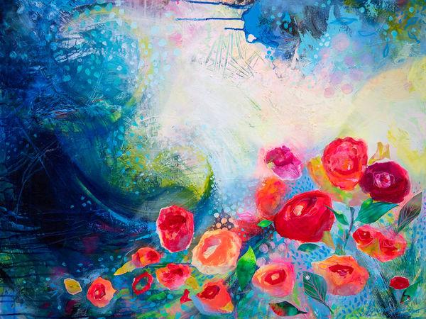 And Still I Will Bloom, Original Painting Art   Jessica Hughes Fine Art