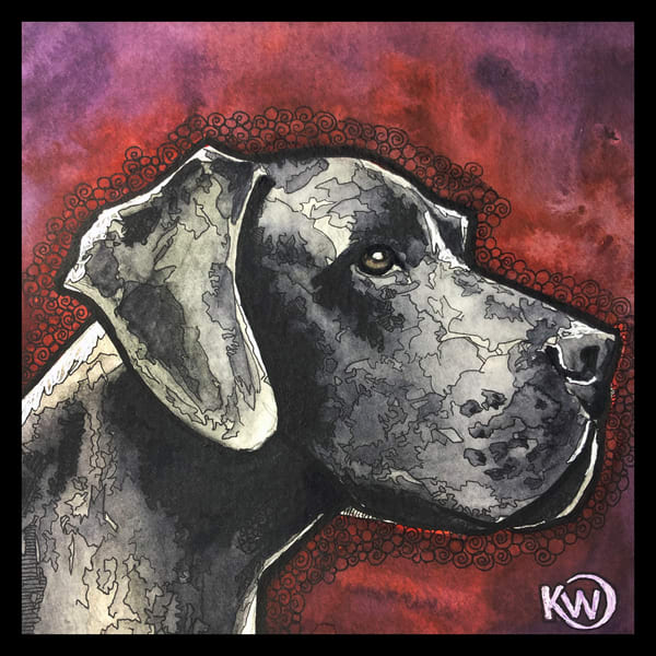 Great Dane Art | Water+Ink Studios