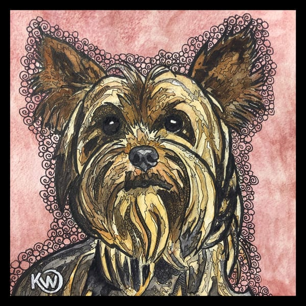 Yorkshire Terrier Art | Water+Ink Studios