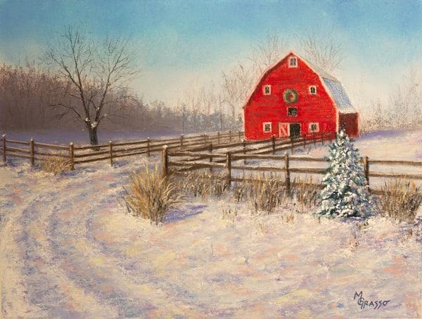Holiday Barn   Original Art | Mark Grasso Fine Art