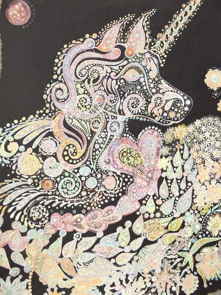 Unicorn At N Ight Art | Cynthia Christensen Art