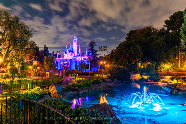 Beautiful Disneyland Castle   Disneyland Wall Mural Photography Art | William Drew Photography