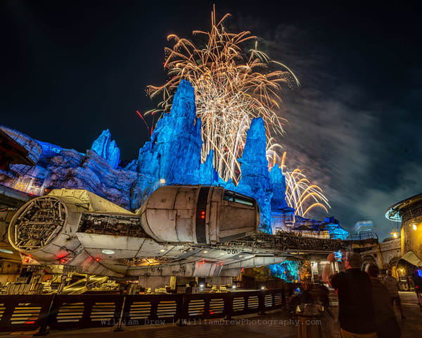 Star Wars Fireworks Finale   Disneyland Wall Mural Photography Art | William Drew Photography