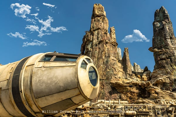 Millennium Falcon Cockpit At Disneyland   Star Wars Wall Mural Photography Art | William Drew Photography