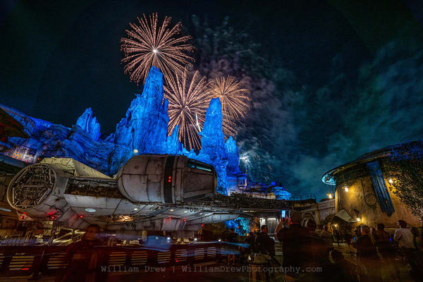 Fireworks At Smugglers Run   Star Wars Wallpaper For Walls  Photography Art | William Drew Photography