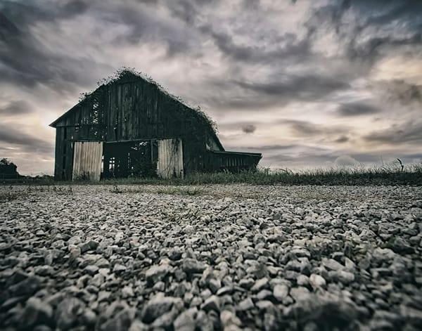 "Mystic Barn   18x28"" Metallic Gallery Wrapped Canvas Art | Kentucky Art Mine, LLC"