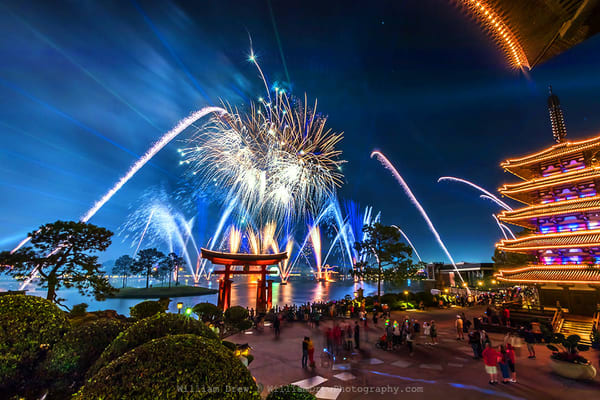 Epcot Fireworks Spectacular 4   Epcot Wall Mural Photography Art | William Drew Photography