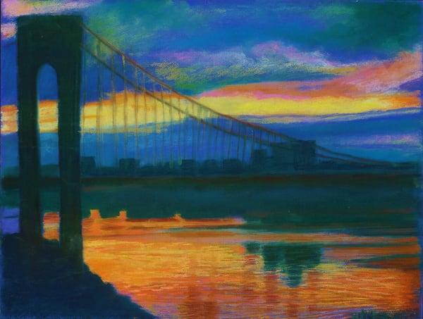 LUMINOUS SUNSET BRIDGE GEORGE WASHINGTON