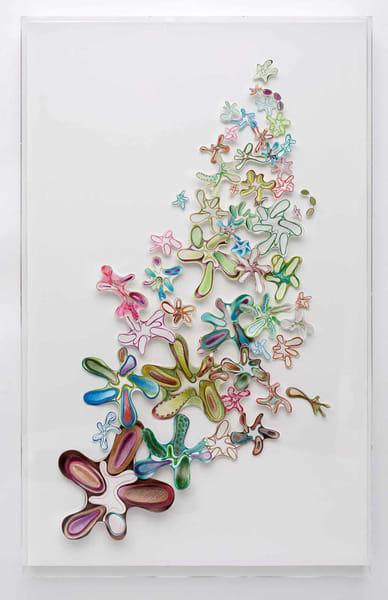 #5 | Fraternal Foliage (Installation Box) 53x33 Cut Up Prints. (Ready To Hang) Art | Cynthia Mosser Fine Art