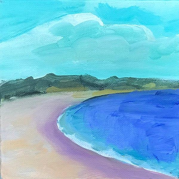Blue Beach Art | lynnericson-fine-art.com