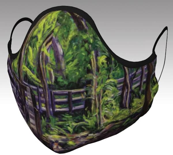 Face Mask featuring Illumination at Crawford Lake Conservation Area, original artwork by Janet Jardine