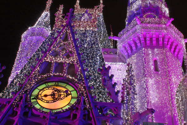 Christmas Time At Cinderella Castle Photography Art | William Drew Photography