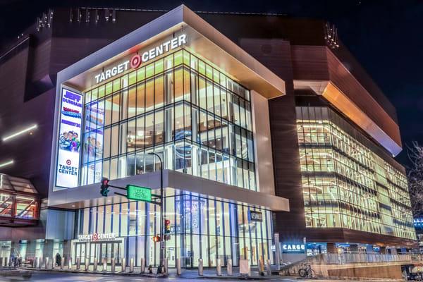 Target Center 2 - Minneapolis Cityscape Art   William Drew
