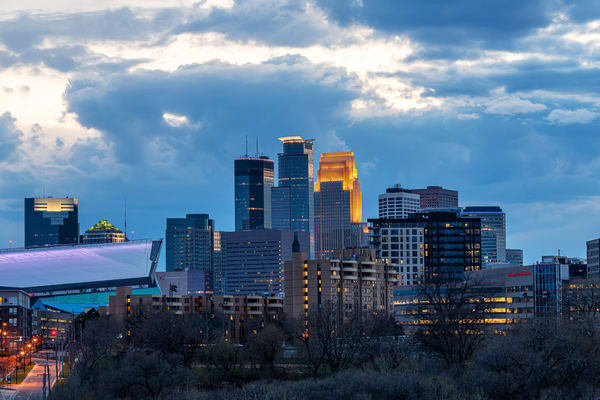 Cloudy Evening In Minneapolis Photography Art   William Drew Photography