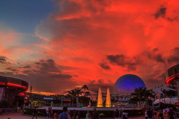 Epcot Clouds Photography Art | William Drew Photography