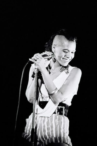 Annabella Lwin of Bow Wow Wow at the Hammersmith Odeon
