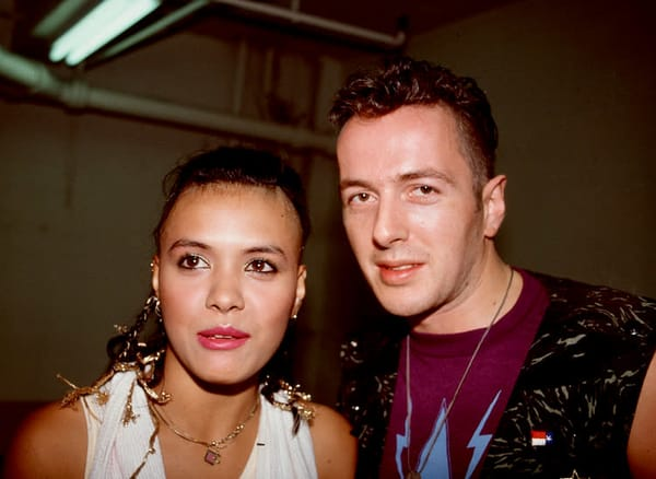 Annabella Lwin of Bow Wow Wow & Joe Strummer of The Clash