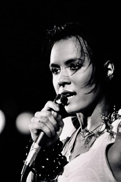 Annabella Lwin of Bow Wow Wow at Hammersmith Odeon