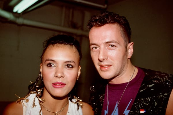 Annabella Lwin of Bow Wow Wow and Joe Strummer of The Clash