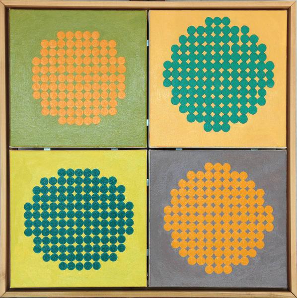 Yellow Grid Art | Courtney Miller Bellairs Artist