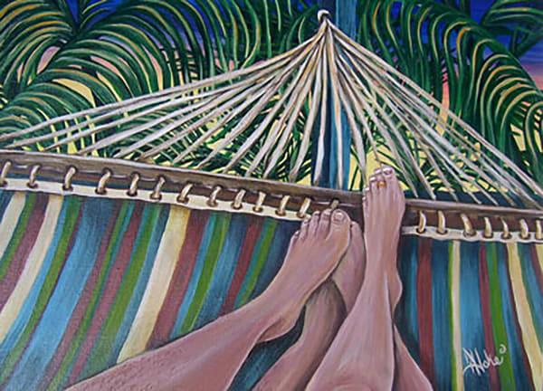 Hoke Eden House Hammock 11x14 Art | Friday Harbor Atelier