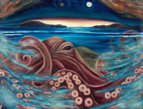 Hoke Gg2 Venus Octopus 32x36 Art | Friday Harbor Atelier