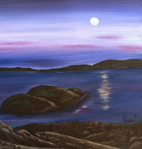 Hoke Supermoon Reuben Tarte 10x10 Art | Friday Harbor Atelier