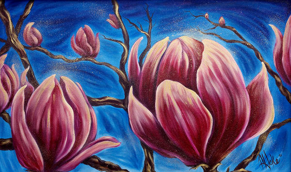 Hoke Magnolia Blooms 24x36 Art | Friday Harbor Atelier