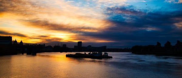 Greenwich November Sunset Art | Martin Geddes Photography