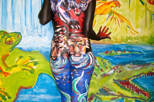 2009 Jungle Mural Massachussetts Art | BODYPAINTOGRAPHY