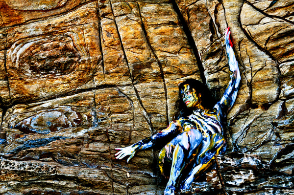 2009 Sandstone Cliff Australia Art | BODYPAINTOGRAPHY
