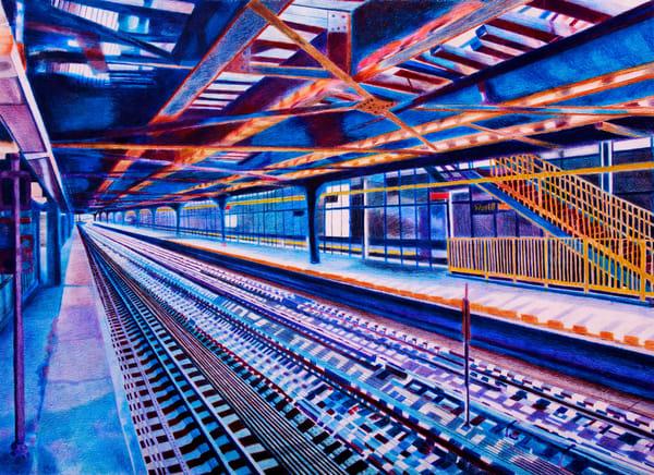 Journey On A Brooklyn Platform Station   lencicio