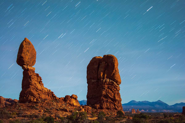 Balanced Star Trails Photography Art   Call of the Mountains Photography