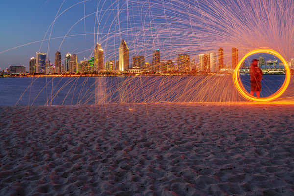 San Diego Skyline From Coronado Force Field Fine Art Print Art | McClean Photography