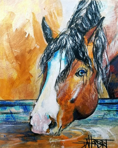 """My Blue Eyed Girl"" Art | debherbertart"
