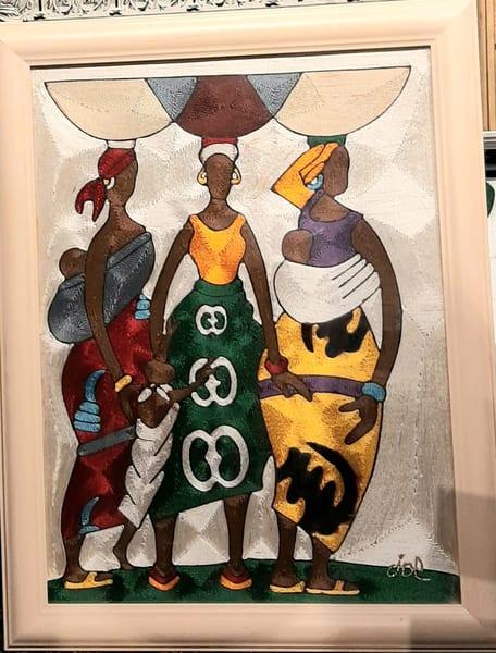 Three Women With Baskets & Child | The Eden Gallery