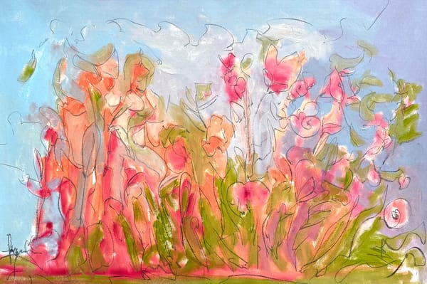 Oversize Flower Painting Poppies by Dorothy Fagan