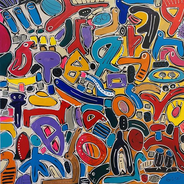 """Momentary Lapse Of Reason"" Original 36"" X 36"" Art | Garry Scott Wheeler Artwork LLC"