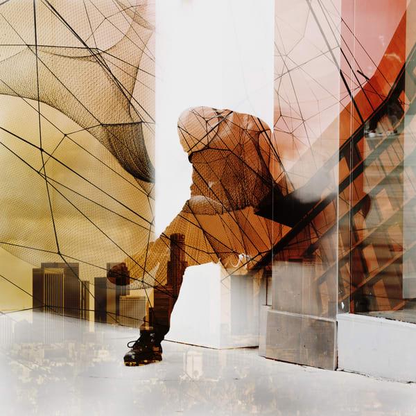 Leaning Man La Art | R.j.Ricci Art