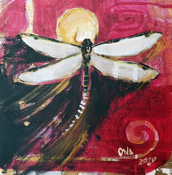 Breaking Free Dragonfly Painting
