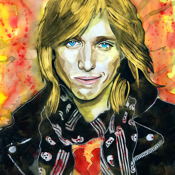 Tom Petty Lf Coaster Art | William K. Stidham - heART Art