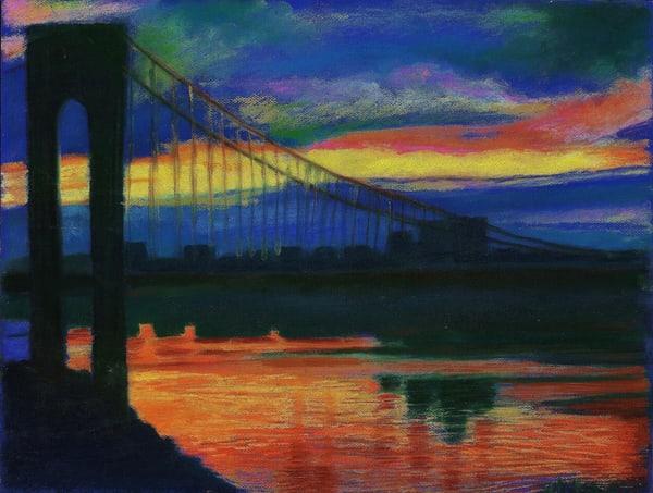 The Luminous Gw Bridge At Sunset In The Heights   lencicio