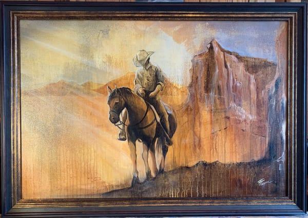Original Acrylic Painting | by Tammy Tappan Artist | Sedona Cowboy