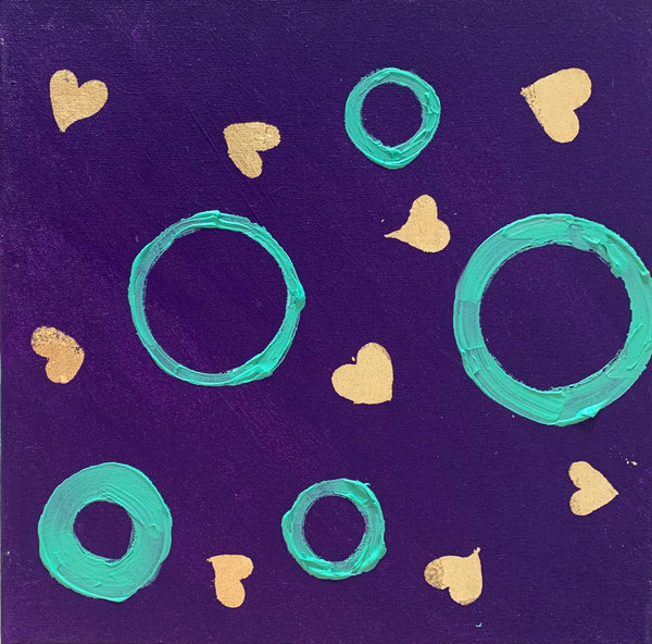 Golden Hearts 1 Art | Courtney Einhorn