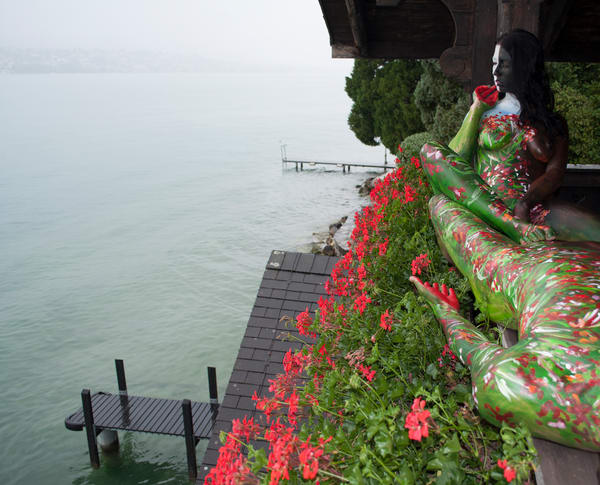 2011  Geranium.Balcony  Switzerland Art | BODYPAINTOGRAPHY