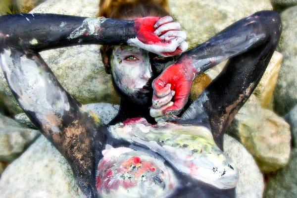 2009 Harbor Rocks Massachussetts Art | BODYPAINTOGRAPHY