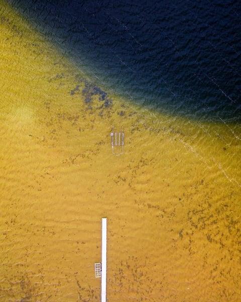 Two-toned lake in Michigan's Upper Peninsula