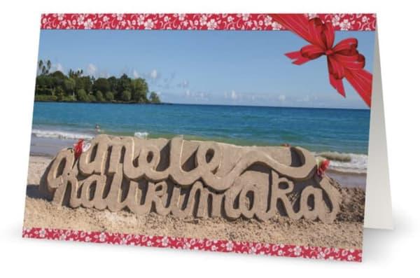 Mele Kalikimaka Sand And Ocean | Bird In Paradise