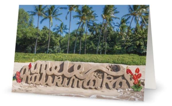 Mele Kalikimaka Sand And Palms | Bird In Paradise